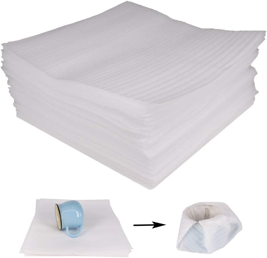 """100 Pack 12 x 12"""" Foam Wrap Sheets Cushioning For Moving, Shipping, Packaging, Storage-Safely Cushion Wrap For Dishes, China, Furniture, Glasses ( 1.0 mm Thickness) by ZMYBCPACK 51D2B2BFw2BoTL"""