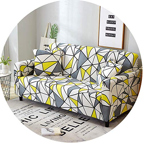 Flower Slipcover Sofa Cover Tightly All-Inclusive Wrap Sofa Cover,Color 23,2 Seater (Outdoor Nc Charlotte Furniture)