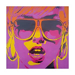 Pop Star Purple Orange by Abstract Graffiti, 35x35-Inch