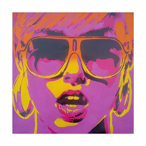 Pop Star Purple Orange by Abstract Graffiti, 35x35-Inch Abstract Pop Art