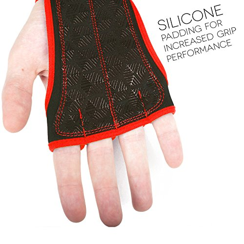 Workout Gloves Wrist Wrap Best Workout Gloves For Weight Lifting, Gym Workouts Red Xs -2026