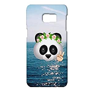 Samsung Galaxy S6 Edge plus Mobile Case,Classical Cute Panda Pattern Series Custom Printed 3D Hard Snap on Case for Samsung Galaxy S6 Edge plus