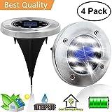 LECLSTAR Solar Ground Disk Lights,Outdoor Garden Pathway Outdoor Waterproof Underground Bright Solar In-Ground Disk Lights With 8 LED,Illuminate The Way Home