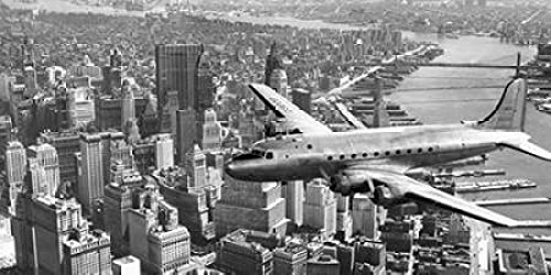 (Flying over Manhattan NYC Poster Print by Anonymous (10 x)