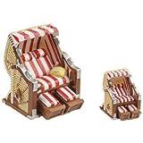 HobbyFun Fauteuil-cabine Rouge/blanc 6,5 x 6,5 x 5 cm