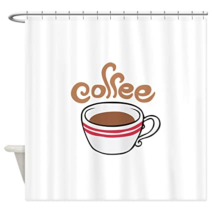 Amazon CafePress HOT Coffee Shower Curtain Decorative Fabric