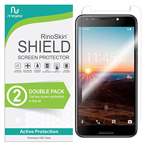 RinoGear T-Mobile Revvl Screen Protector [2-Pack] (Edge-to-Edge) Flexible Screen Protector for T-Mobile Revvl HD Crystal Clear Anti-Bubble Unlimited Replacement Film