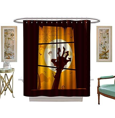 Miki Da Shower Curtains Waterproof Halloween Scene View
