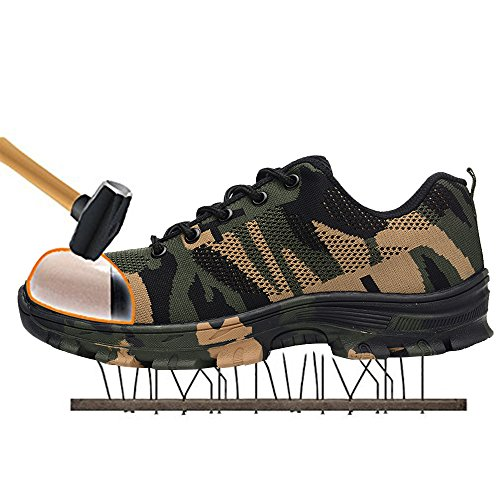 Shoes TRUPO Proof Construction Camouflage Green Industrial Work Safety Footwear Mens Toe Steel Puncture qZTtrZUwWn