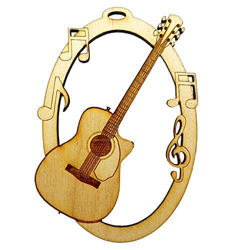 personalized guitar ornament acoustic guitar ornaments guitar player gift handmade. Black Bedroom Furniture Sets. Home Design Ideas