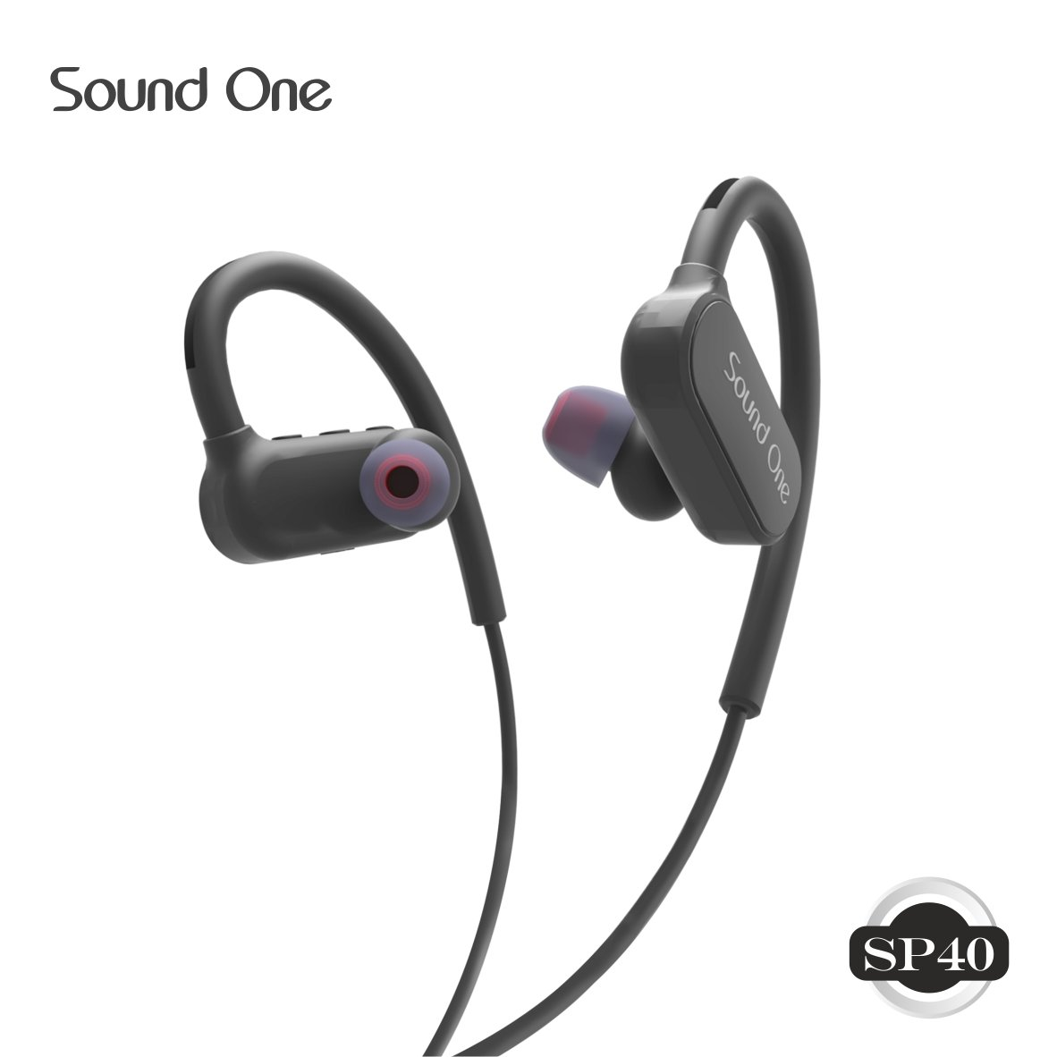 Sound One SP-40 Sports Bluetooth Earphones with Mic & Carry Case