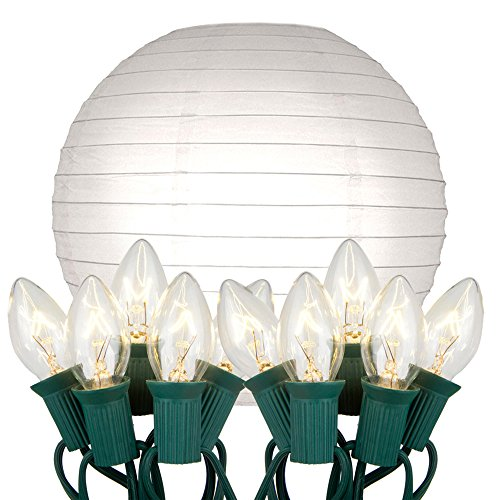 Outdoor Paper Lantern String Lights in US - 8