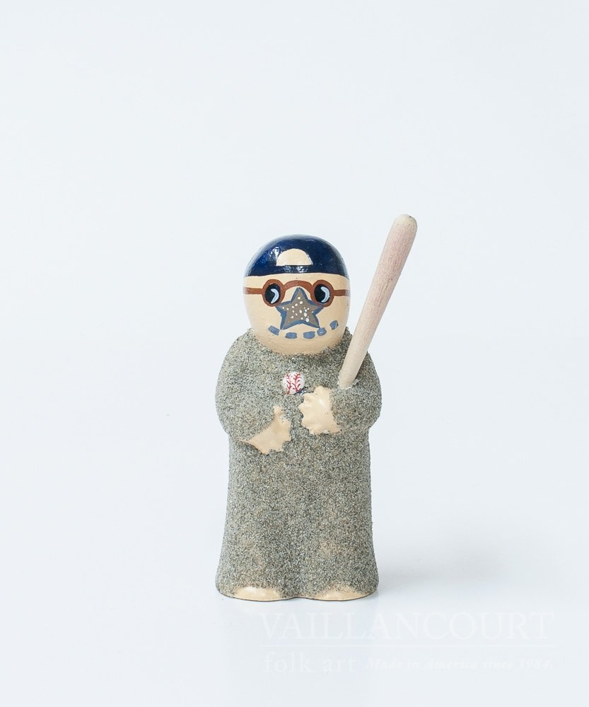 Vaillancourt Folk Art Baseball Sandman