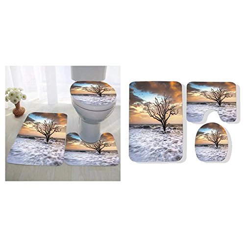 Oyavdsznq three-piece toilet seat pad custom botany bay edisto island sc boneyard beach sunset landscape charleston south carolina east coast ()
