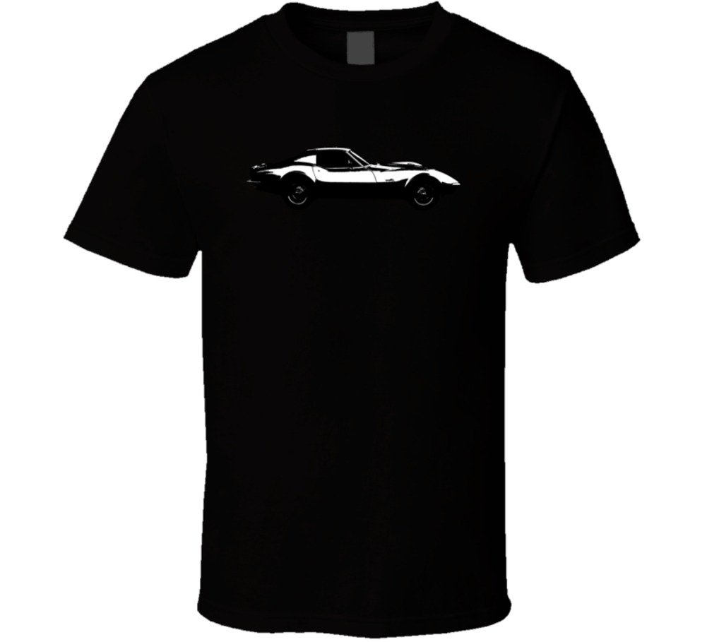 Chevrolet Corvette C3 Zr2 Stingray 7 Vintage Car Lover Driver Gift T Shirt 2XL Black by FanTstore (Image #1)