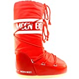 Womens Tecnica Moon Boot Nylon Warm Winter Waterproof Snow Boots - Red - 7-8.5