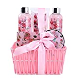 Spa Gift Basket for Woman with Refreshing Lovely Rose Fragrance by Draizee – Luxury Skin Care Set Includes Lotions, Creams, Bubble Bath and Much More! #1 Best Gift Idea for Wife, Mom and Girl Friend