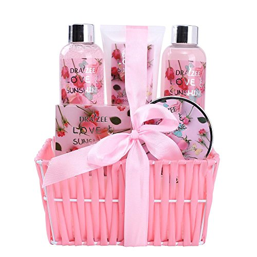 Spa Gift Basket for Woman with Refreshing Lovely Rose Fragra