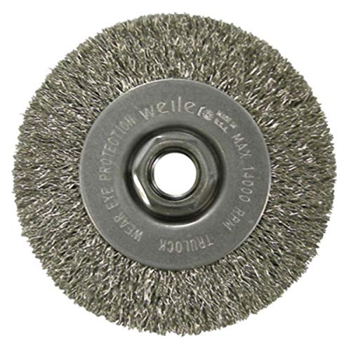 4'' Diameter - 5/8-11'' Arbor Hole - Crimped Steel Wire Straight Wheel by Mighty-Mite (Image #1)