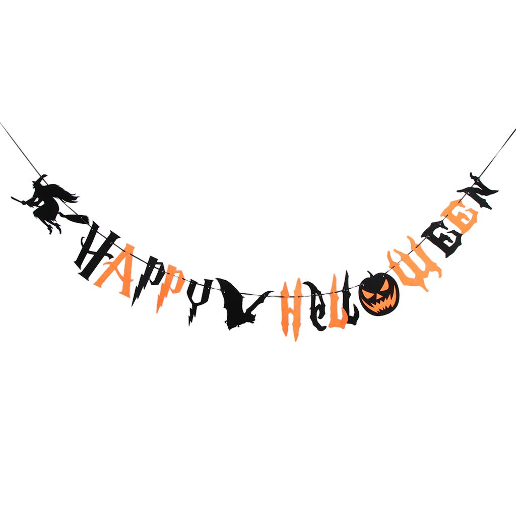 HAPPY HALLOWEEN BALLOONS TRICK OR TREAT WITCH  SPOOKY ROSE GOLD LETTERS GARLAND