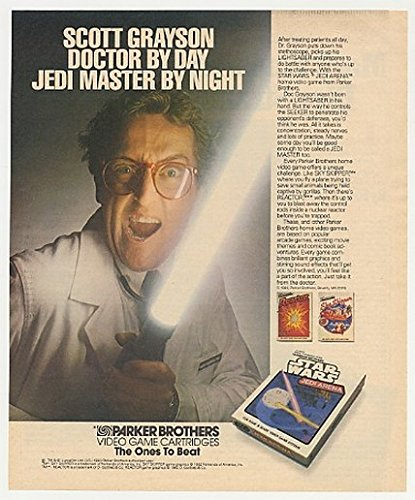 1983 Dr Scott Grayson Star Wars Jedi Arena Video Game Print Ad