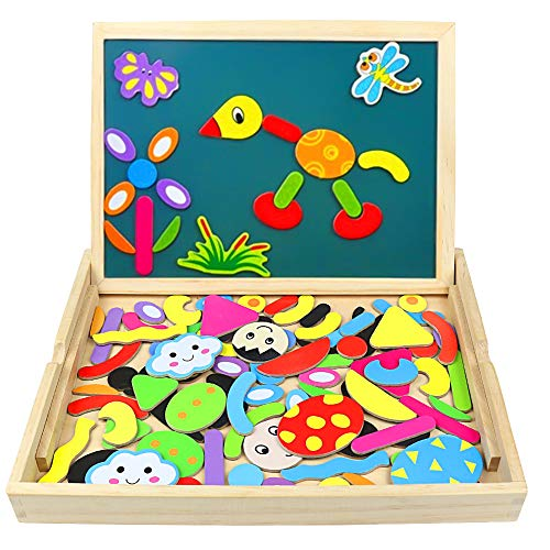 Jual Jerryvon Wooden Puzzle Montessori Toys Magnetic Drawing Board