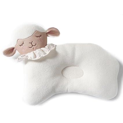 Almohada suave para bebé recién nacido que evita la cabeza plana, almohada protectora transpirable y saludable para bebés que duermen cómodamente, ...