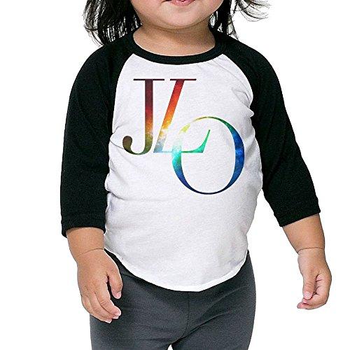 Billy S Jennifer Lopez Kids 3/4 Sleeve Raglan Baseball T Shirts Black 2 - Black Lopez Dress Jennifer