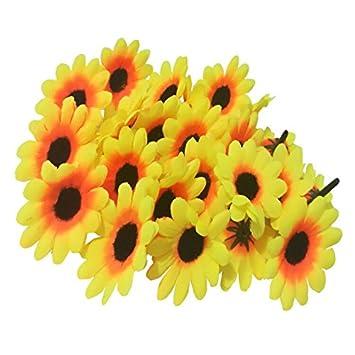 Amazon Qyany 100pcs Yellow Sunflower Heads Gerber Daisy Flower