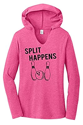 Comical Shirt Ladies Split Happens Funny Bowling Shirt Hoodie Shirt