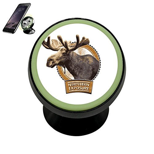 (PG-Gai Northern Buck Universal Magnetic Car Mount - Ultra-Compact 360 Rotation Phone Holder Dashboard Mount)