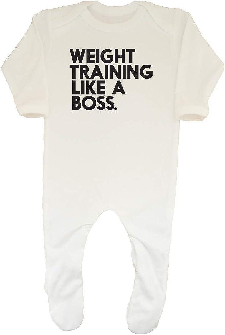 Shopagift Baby Weight Training Like a Boss Sleepsuit Romper