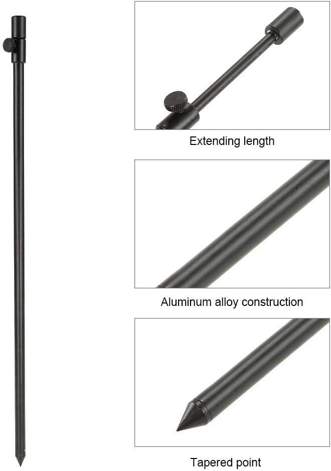 New 48-75cm Extending Aluminum Alloy Fishing Bankstick Fishing Rod Pod Rest