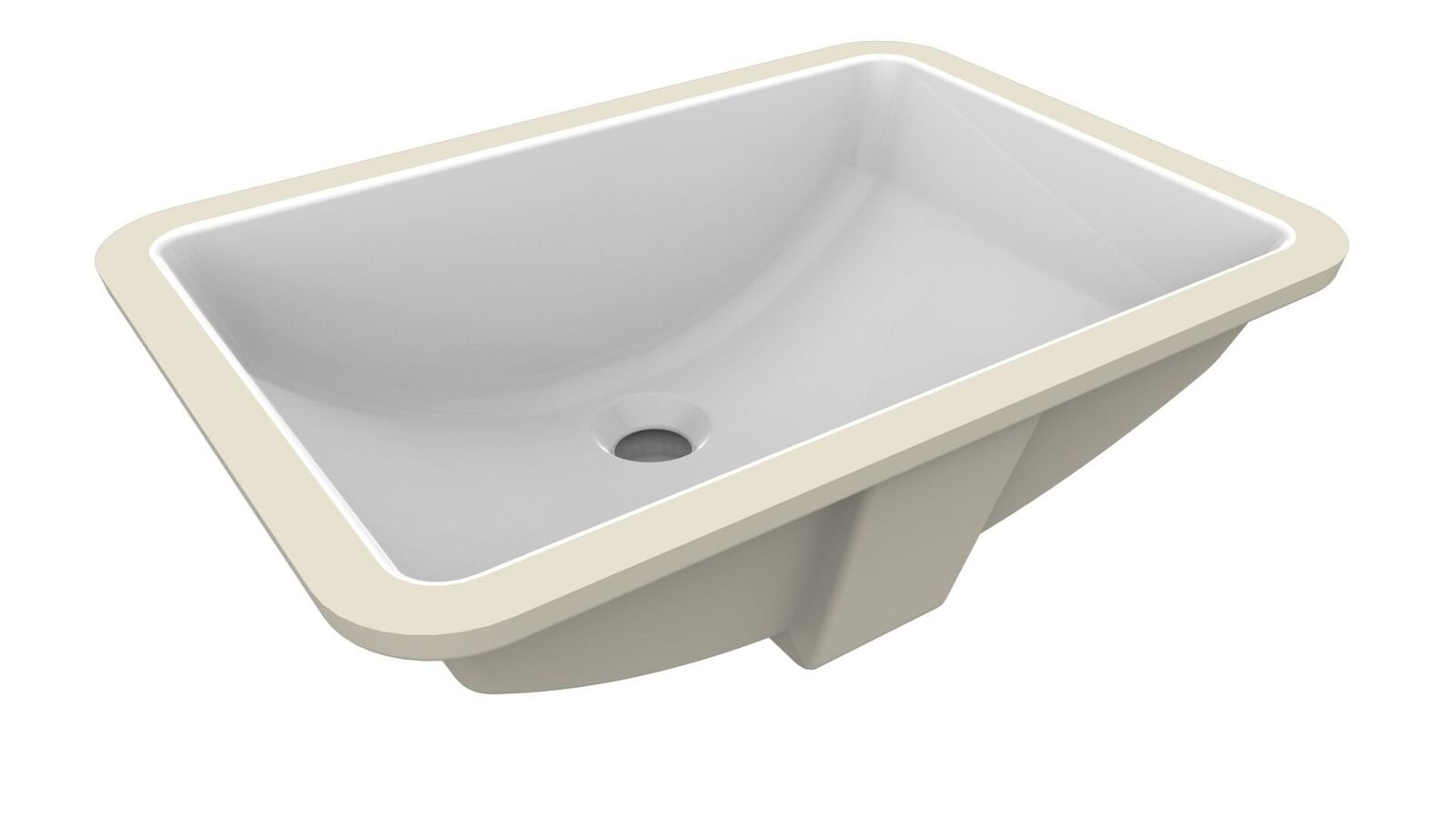 A&E Bath and Shower Nevine Fusion Undermount Ceramic Basin, White by A&E Bath and Shower