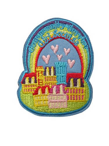 - GIRL SCOUT S3 Community Service Iron On Patch Fabric Applique Motif Children Decal 2.3 x 2.1 inches (5.8 x 5.3 cm)