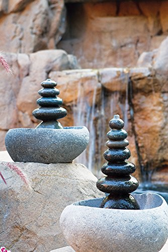 Garden Age Supply Quintuple Rock Cairn Tabletop Water Fountain, Five Rock Fountain Perfect for Indoor Decoration by Garden Age Supply (Image #1)