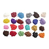Pigment Powder for Resin, Epoxy, Slime, Soap, Bath Bomb, Art, Candle, Make Up - Natural Mica Mineral Dye Colorant - Skin Safe - Cosmetic Grade 24 Colors Pearlesent Shimmer Pigments by CHAMELEON GALAXY