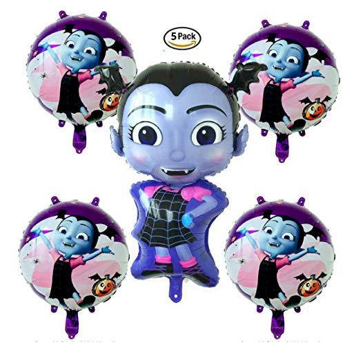 Vampirina Birthday Balloon Bundle Pack of 5 | Halloween Party Supply Decorations ()