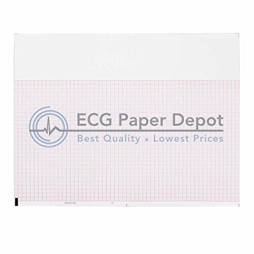 ECG EKG Paper Burdick 7160237-00 Compatible Thermal Recording Sheets 10 Packs per ()