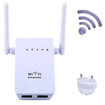 Extensor de red WiFi, Enrutador Inalámbrico 300Mbps Wireless-N MiNi Router AP Amplificador Repetidor