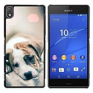 YOYOYO Smartphone Protección Defender Duro Negro Funda Imagen Diseño Carcasa Tapa Case Skin Cover Para Sony Xperia Z3 D6603 D6633 D6643 D6653 D6616 - bebé lindo borrosa luces de cachorro de piel