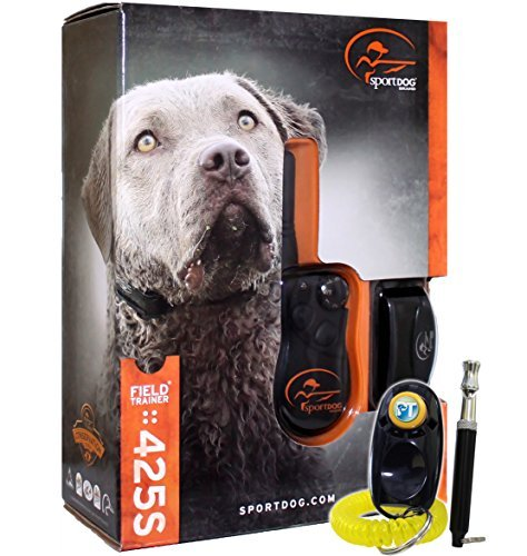 - SportDOG Brand FieldTrainer 425S Stubborn Dog Remote Trainer - 500 Yard Range - Waterproof, Rechargeable Training Collar with Tone, Vibration, and Shock
