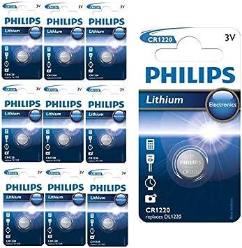 Philips Cr1220 3v Lithium Knopfzelle 10 Stück Elektronik