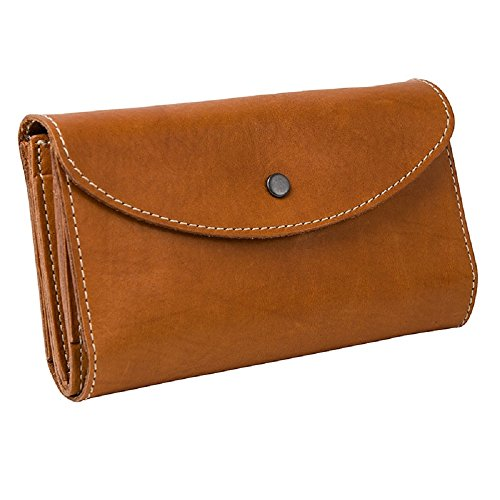 Ladies Deluxe Leather Wallet with Snap Closure ()