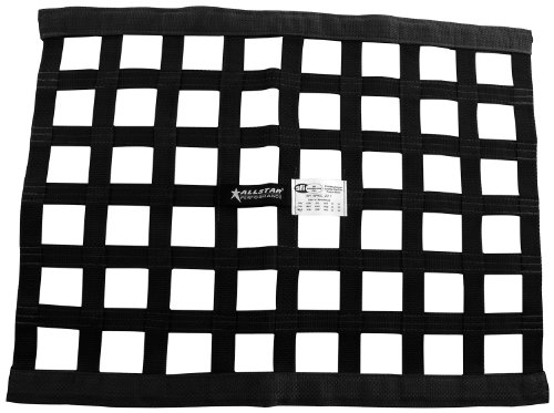 "Allstar ALL10285 Black 18"" High x 24"" Wide Rectangular Border Style Mount Ribbon Window Net"