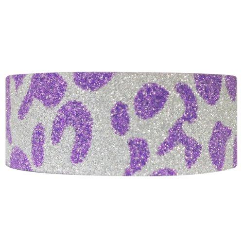 Wrapables Shimmer Washi Masking Tape, Purple, Leopard