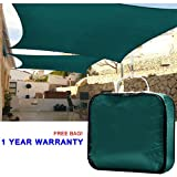 Quictent® New Outdoor 10′ x 15′ Rectangle Sun Shade Sail Canopy Patio Garden Top Cover- Green, with Free Carry Bag Review