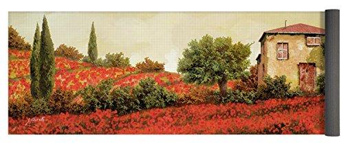Pixels Yoga Mat w/ Bag ''I Papaveri Sulla Collina'' by Pixels