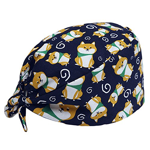 (Scrub Cap Surgical Scrub Cap Medical Doctor Bouffant Turban Cap with Sweatband Scrub Hat for Women/Men)