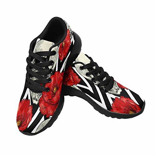 InterestPrint Womens Jogging Running Sneaker Lightweight Go Easy Walking Comfort Sports Running Shoes Multi 11 6He4r